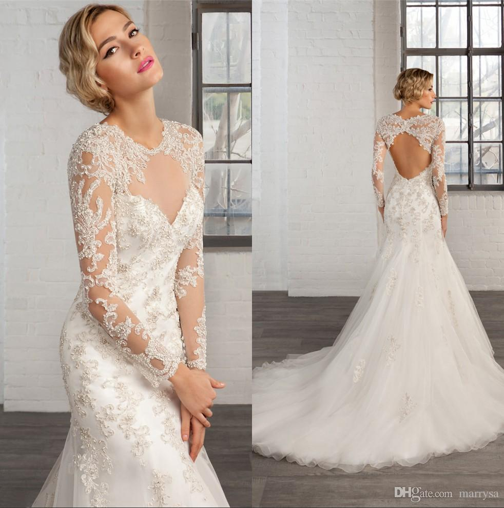 2016 fall winter plus size wedding dresses long sleeves for Plus size fall wedding dresses