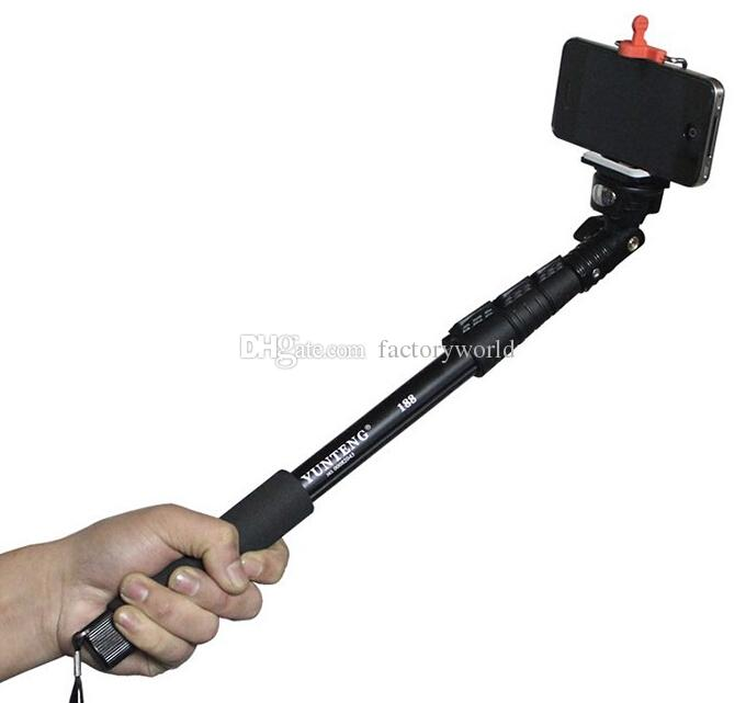 2017 dropship yunteng 188 extendable self portrait selfie stick tripod monopod for camera for. Black Bedroom Furniture Sets. Home Design Ideas