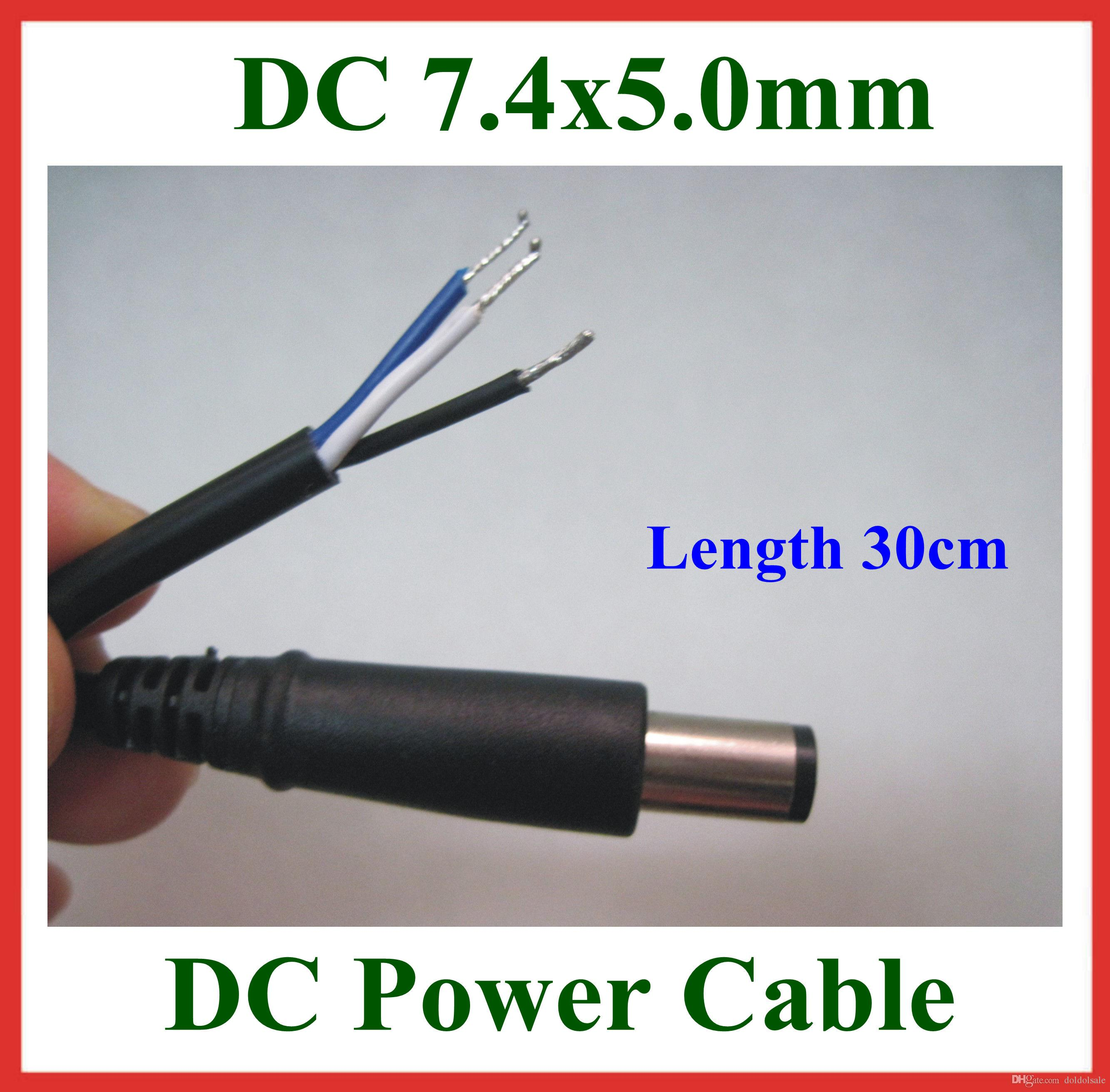 2pcs dc tip plug 7 4 5 0mm 7 4x5 0mm dc power dc tip plug 7 4*5 0mm 7 4x5 0mm dc power supply cable with pin wiring diagram for hp laptop charger at creativeand.co