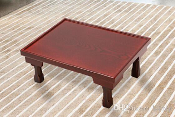 2017 Asian Wood Furniture Korean Dining Table Folding Legs Rectangle 60 50cm Living Room Coffee