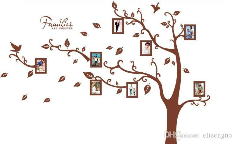 wall decal family art bedroom decor large removable family tree wall decal photo frame tree wall sticker living room home decoration poster wall art adhesive for kids bedroom decor wall