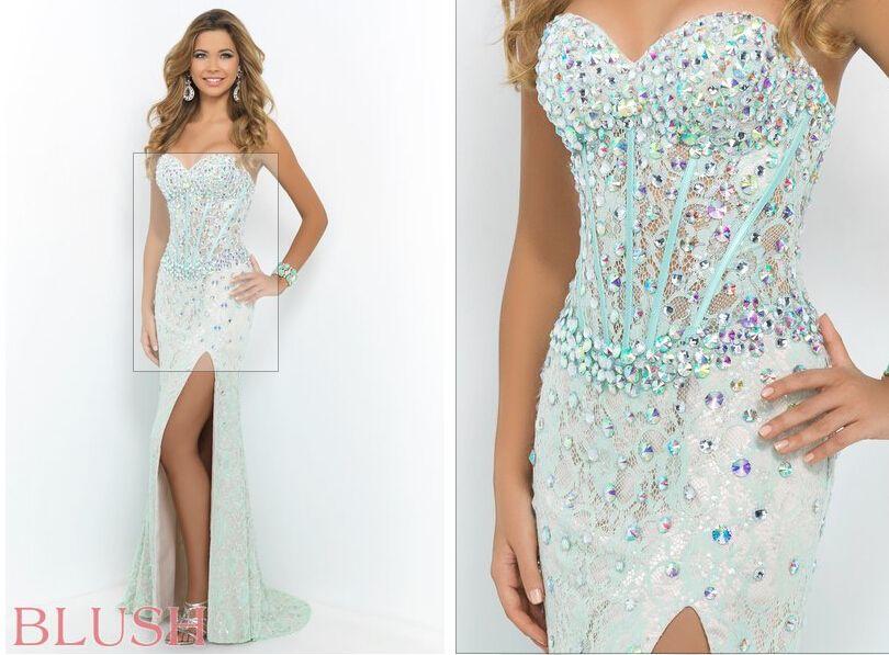 Prom dress corset bodice