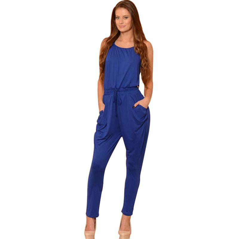 2017 Sexy Jumpsuits 2015 New Bodycon Suits Behind Hollow Out ...