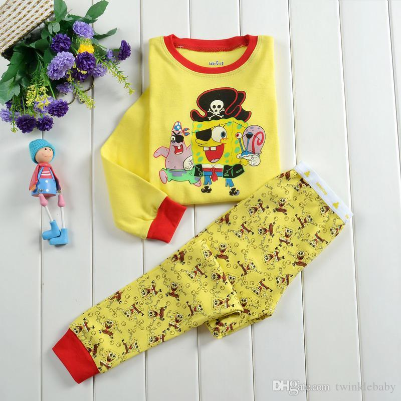 2017 Spongebob Cute Cartoon Baby Clothes Kids Clothing Stores Hot ...