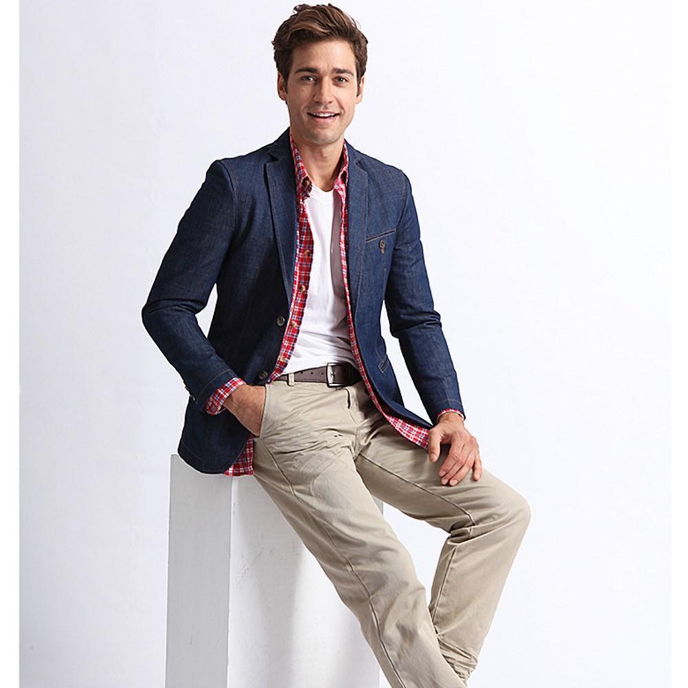 best 2014 men s casual business slim denim blazer coat jacket 2014 men s casual business slim denim blazer coat jacket suits for men man cowboy suit petite