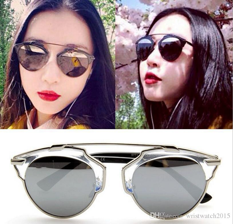 fashion sunglasses for women  Metal Wrap Cat Eye Coating Glasses Eyewear 2015 New Vintage ...