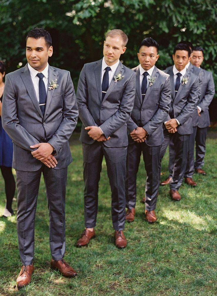 Men Tuxedos Navy Blue Wedding Suits For Men Men Suits 2 Buttons ...