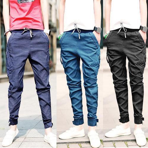 2017 1/3 Skinny Pencil Jeans Slacks Men Boy Denim Feet Pants ...