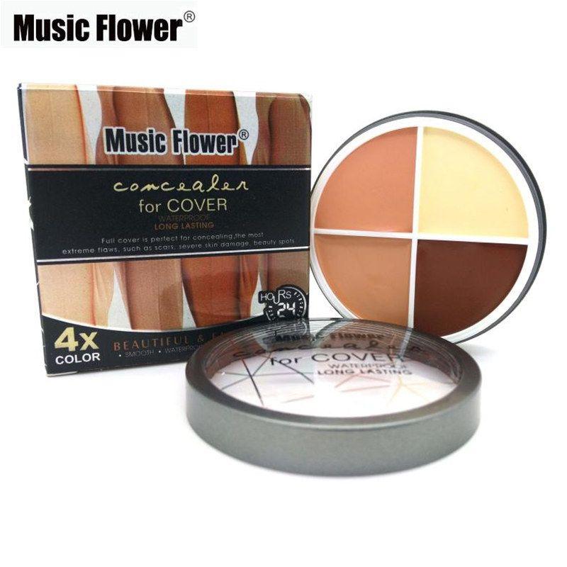 Music Flower Concealer Cream Contour Makeup Camouflage Concealer ...