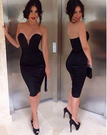 2017 Latest Design Deep V Neck Sexy Bra Dress Black Fashion New ...