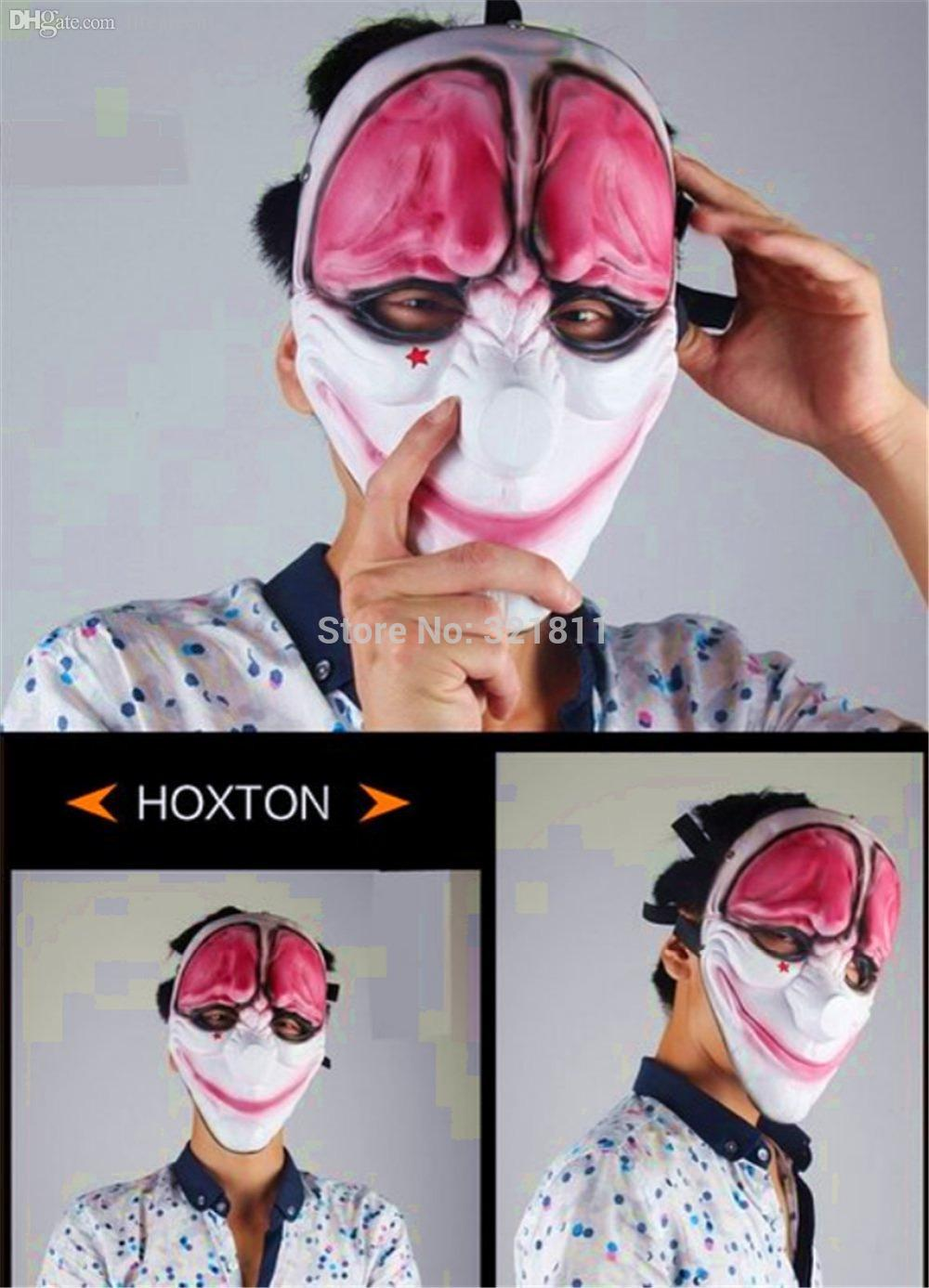 Wholesale Christmas Resin Payday 2 Hoxton Mask Demon Joker Face ...