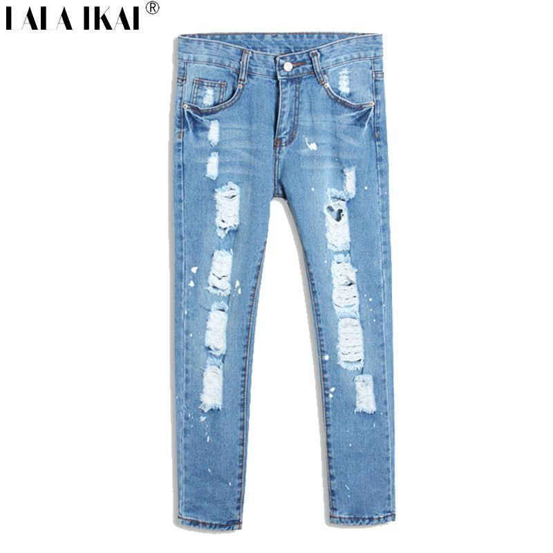 2017 Sexy Girl Ripped Jeans Vintage Destroyed Jeans Hole Jeans ...