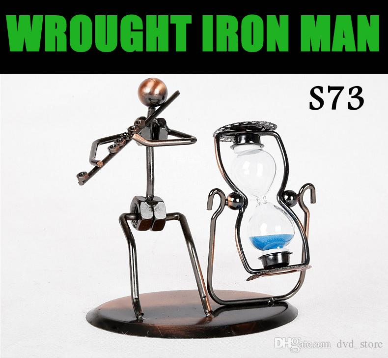 desk ornament wrought iron man hand made arts and crafts home office desk decoration vivid iron arts crafts home office