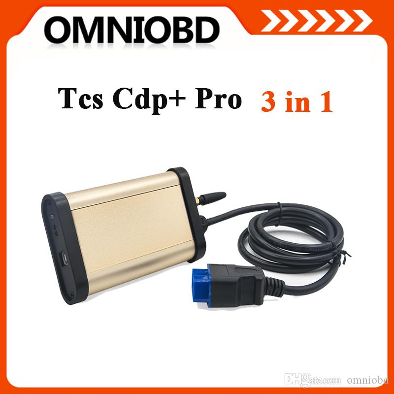 Newest 2014.2 Cdp Bluetooth 3 in 1 with Oki Chip car truck generic diagnostic tool TCS CDP DHL
