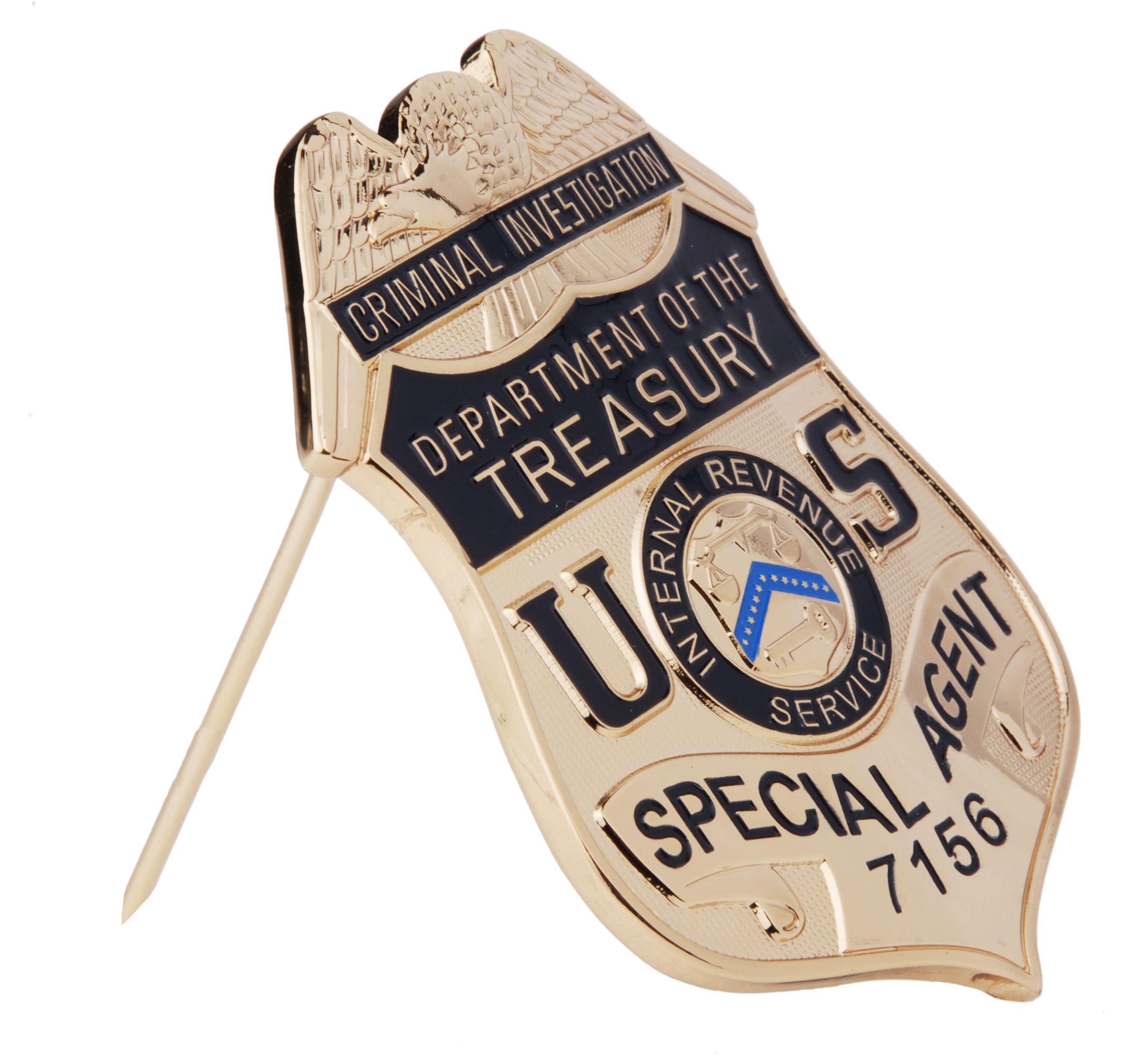 Us criminal investigation department of the treasury special agent metal badge 32705 metal - Criminal bureau of investigation mn ...