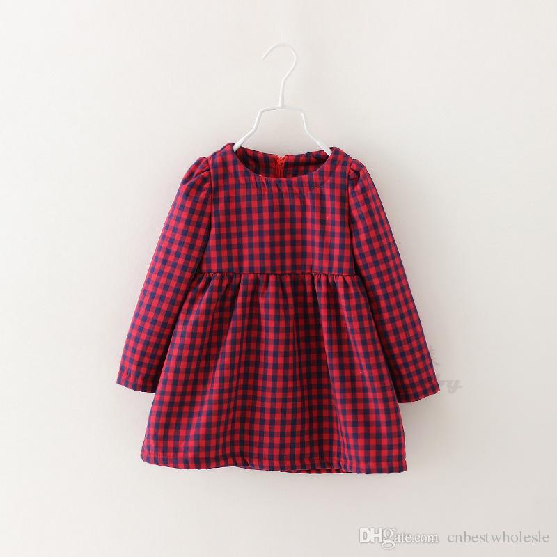 Enfants Filles Plaid dHiver de Fourrure robes Bébé fille,rouge de la marine