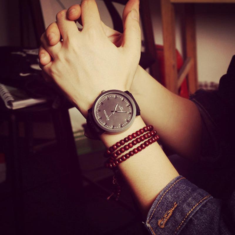 luxury brand korean simple style watch men vintage big dial see larger image