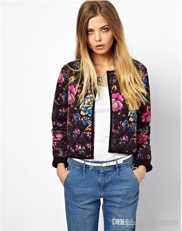 Colorful Cotton Womens Jackets Short Cardigan Ladies Outerwear ...