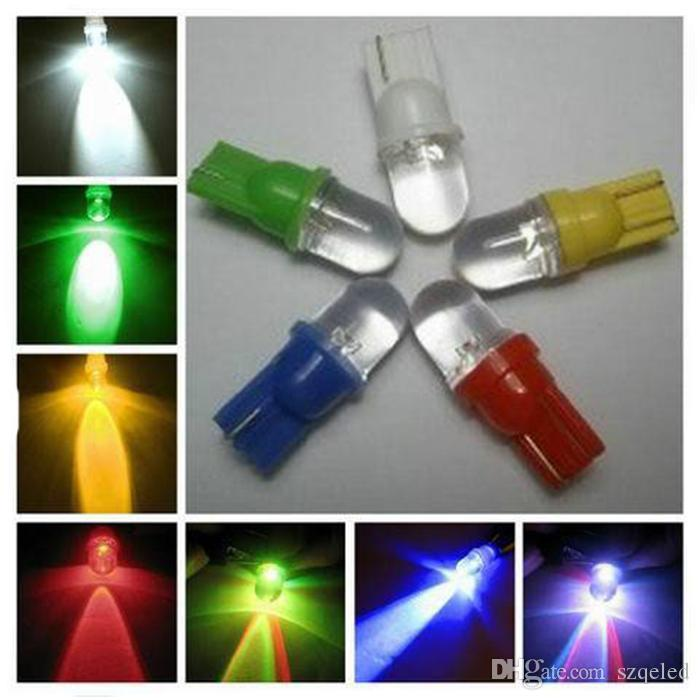 style 500pcs voiture LED 194 W5W T10 1 LED voiture Wedge ronde Ampoules LED Lamp