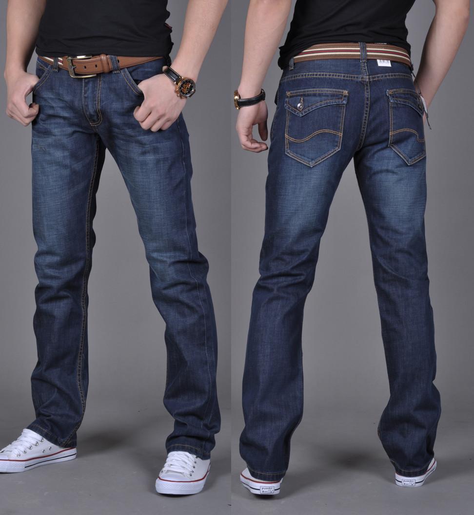 2017 2016 Men'S Jeans Plus Velvet Trousers Straight Slim Pants ...