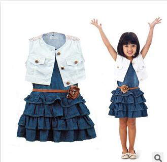 2017 2015 Baby Kids Casual Girl Dress Cotton Jacket Coats   Denim ...
