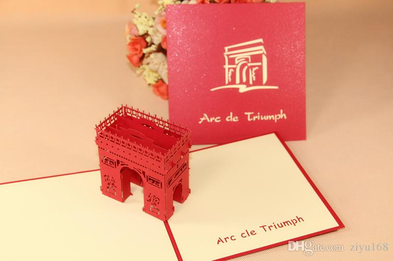 3d Triumphal Arch Happy Birthday Greeting Card Handmade Creative – Birthday Card Mail