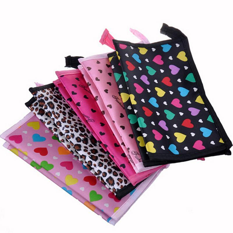 best brand popular small cosmetic bag heart leopard