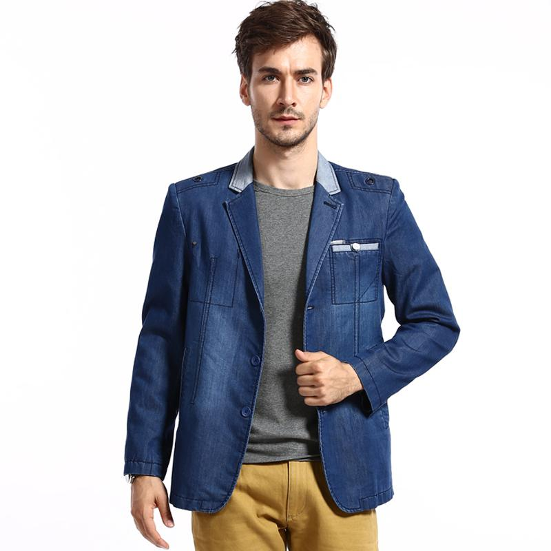 2016 New Casual Business Stylish Mens Brand Blazer Jeans Suit