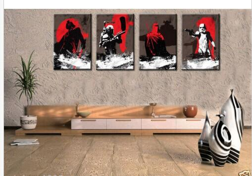 2017 oil painting modern wall deco art canvas star wars. Black Bedroom Furniture Sets. Home Design Ideas