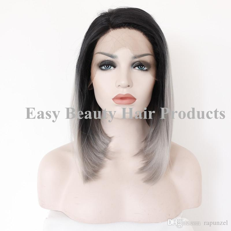 Super Discount Black Silver Ombre Wig 2017 Black Silver Ombre Wig On Short Hairstyles For Black Women Fulllsitofus