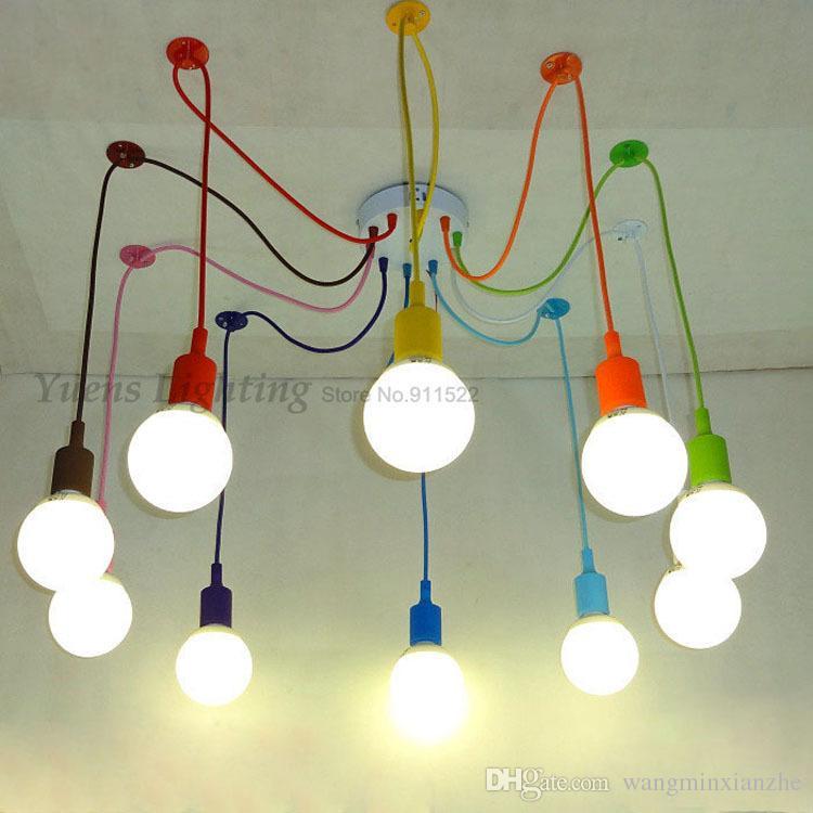e27 spider colored pendant lighting childrens room bedroom decorated restaurant cafe clothing store lamps ysl1823 childrens pendant lighting