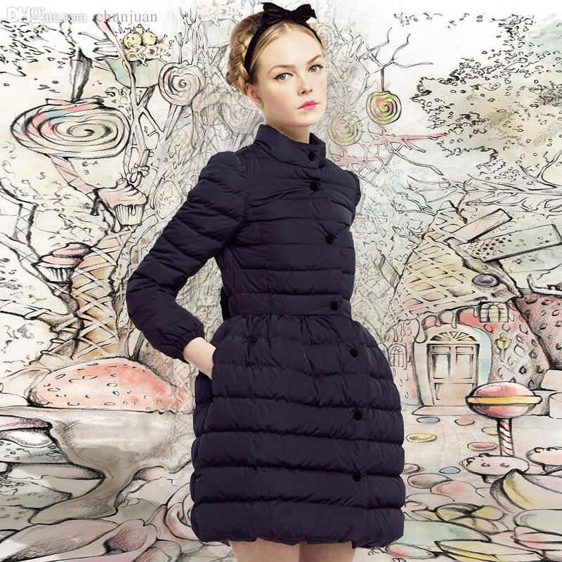 2017 Wholesale Top Quality Down Coat With Bow Back Italian Lux ...
