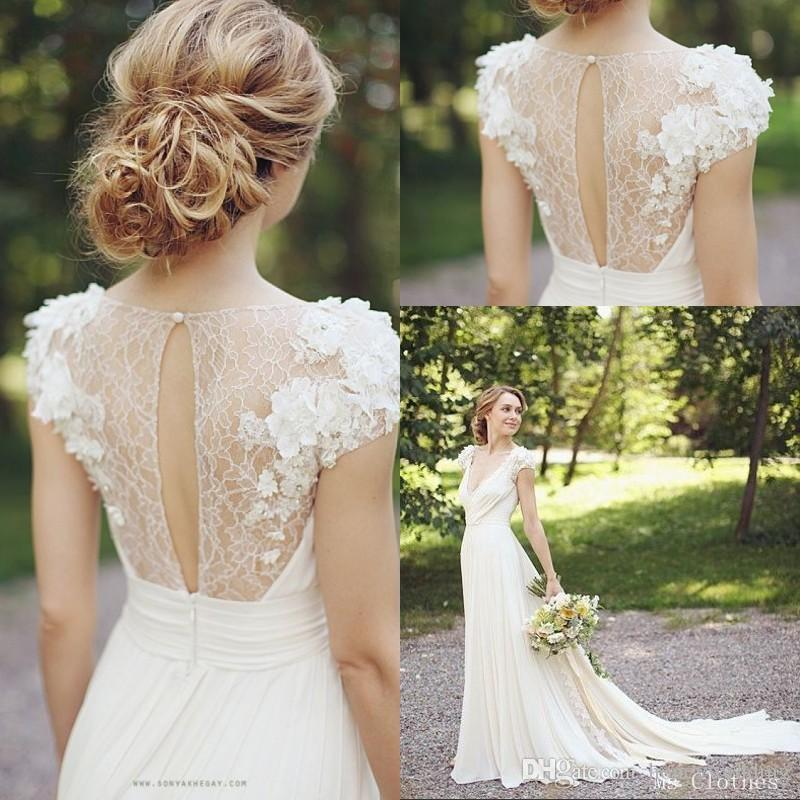 Discount 2015 new country style wedding dresses bohemian for Short country wedding dress