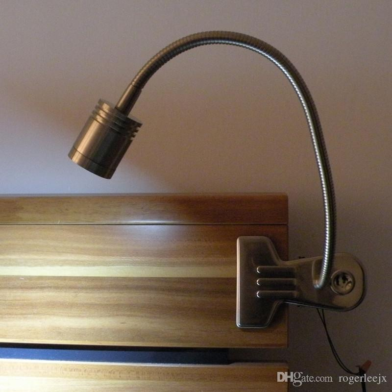 metal made clip on led table light desk lamp for bedside. Black Bedroom Furniture Sets. Home Design Ideas