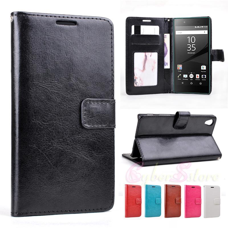 sony z5 compact. for sony xperia z5 compact vintage retro wallet leather case cover with photo frame stand credit holder mini