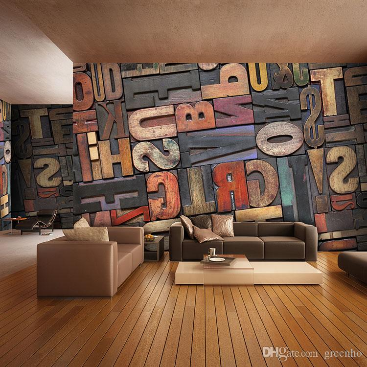 3d giant photo wallpaper letter number wall mural for Home 3d wallpaper wallcovering