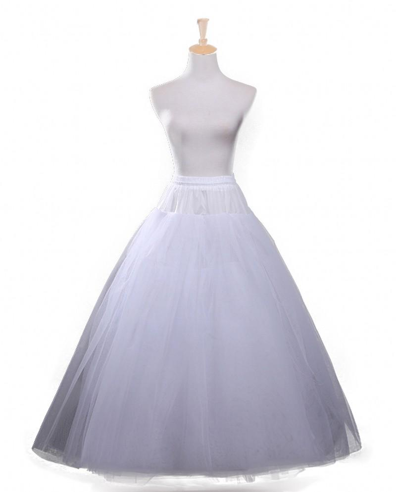 2016 tulle ball gown petticoats floor length crinoline for Tulle petticoat for wedding dress