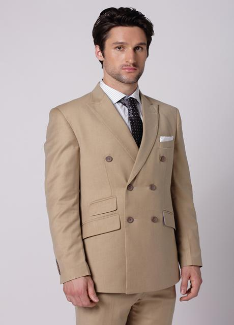 Brown Wedding Suits For Men Double Breasted Men Tuxedos Groomsmen ...