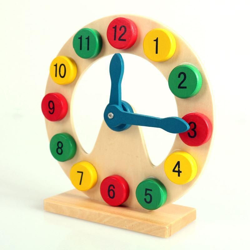 Good Toys For Toddlers : Wooden toy digital clock good quality children s for