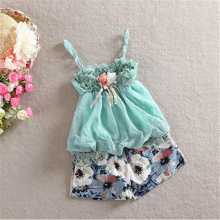 Stylish Designer Baby Girls Outfits Cheap Little Girl Flower Sets ...