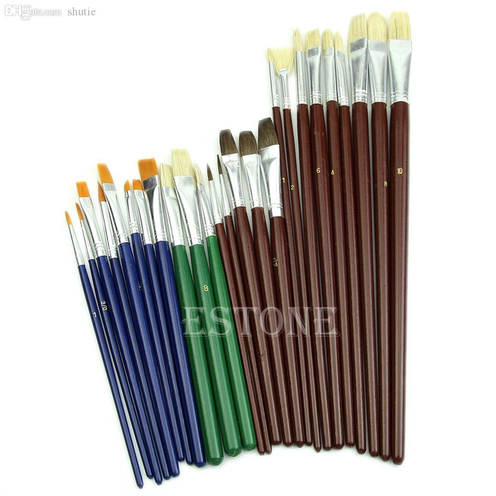 2017 wholesale useful fine art paint brushes for acrylic for Wholesale acrylic craft paint