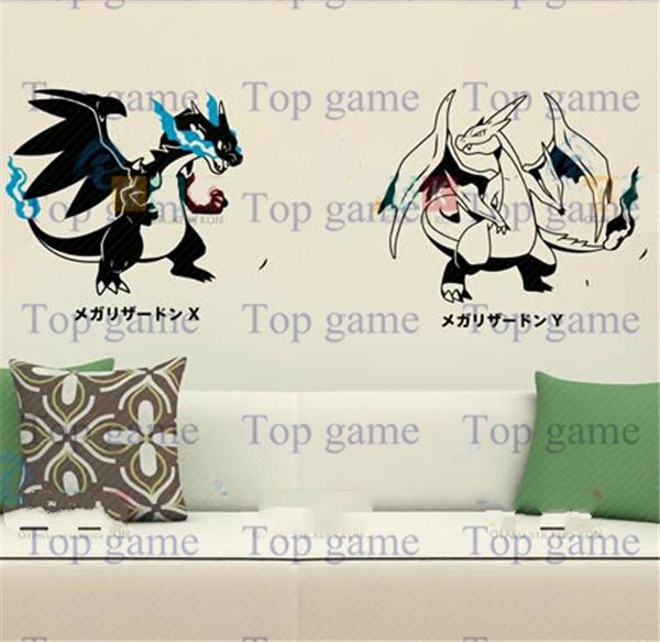 2015 Pokemon Wall Stickers Cartoon Fire Red Removable Poster Games Card  Decorative Wall Decals Child Room 3D Decor Wallpaper Pocket Monster Art Wall  Sticker ... Part 76
