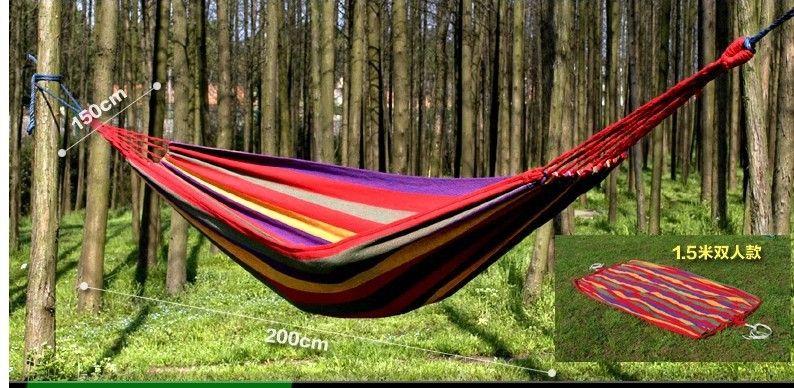 Outdoor 200*150cm 2 People Hammock Garden Swing Set Indoor Swing Bed  Relaxing Swing Sack Max 250KGS Canvas Hammock Free Shipping 2 People Hammock  Garden ...