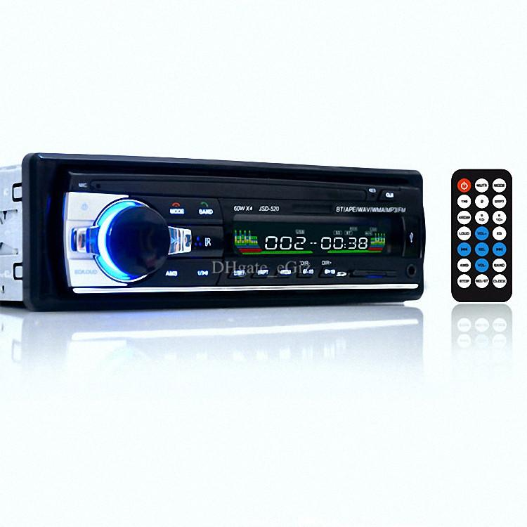 Jsd 520 12v car audio stereo fm receiver bluetooth mp3 player car kit handsfree cell phone