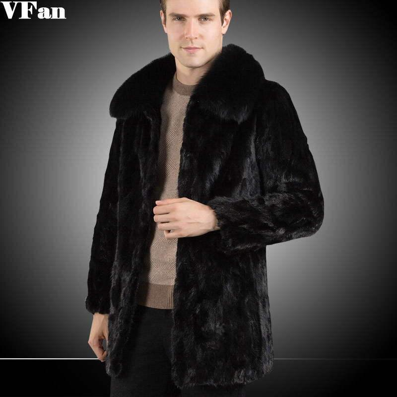 2017 Mens Mink Coat 2016 New Brand Fashion Men Waterproof Slim ...