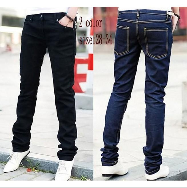 2017 New 2015 Fashion Pencil Pants Men'S Jeans Slim Fit Straight ...