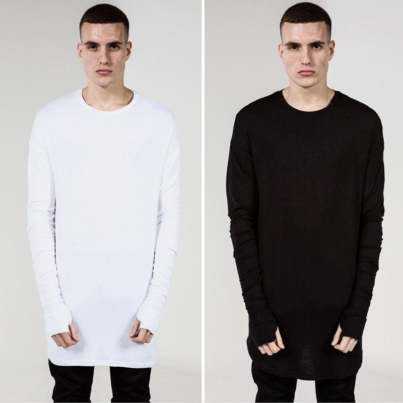 2017 swag shirt style 2015 New Fashion Thumb Hole Cuffs Long Sleeve Tyga Swag Style Man