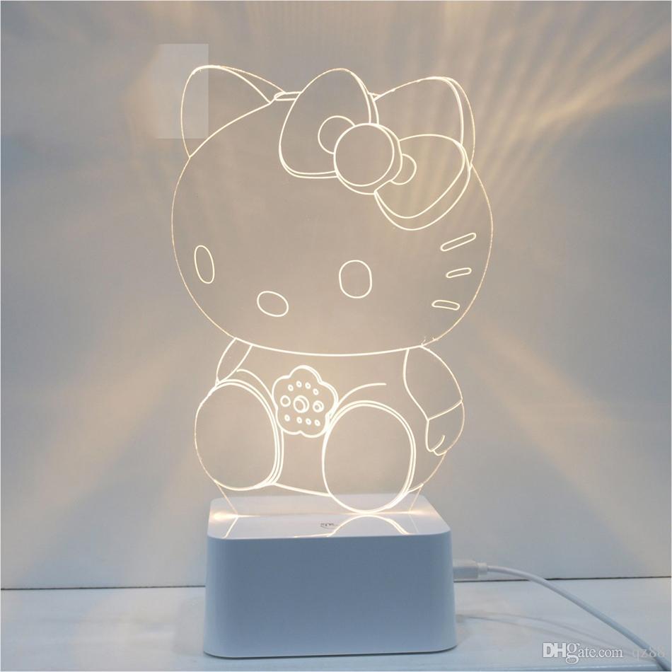 Best hello kitty 3d table light kids room lamp table lamp for ...