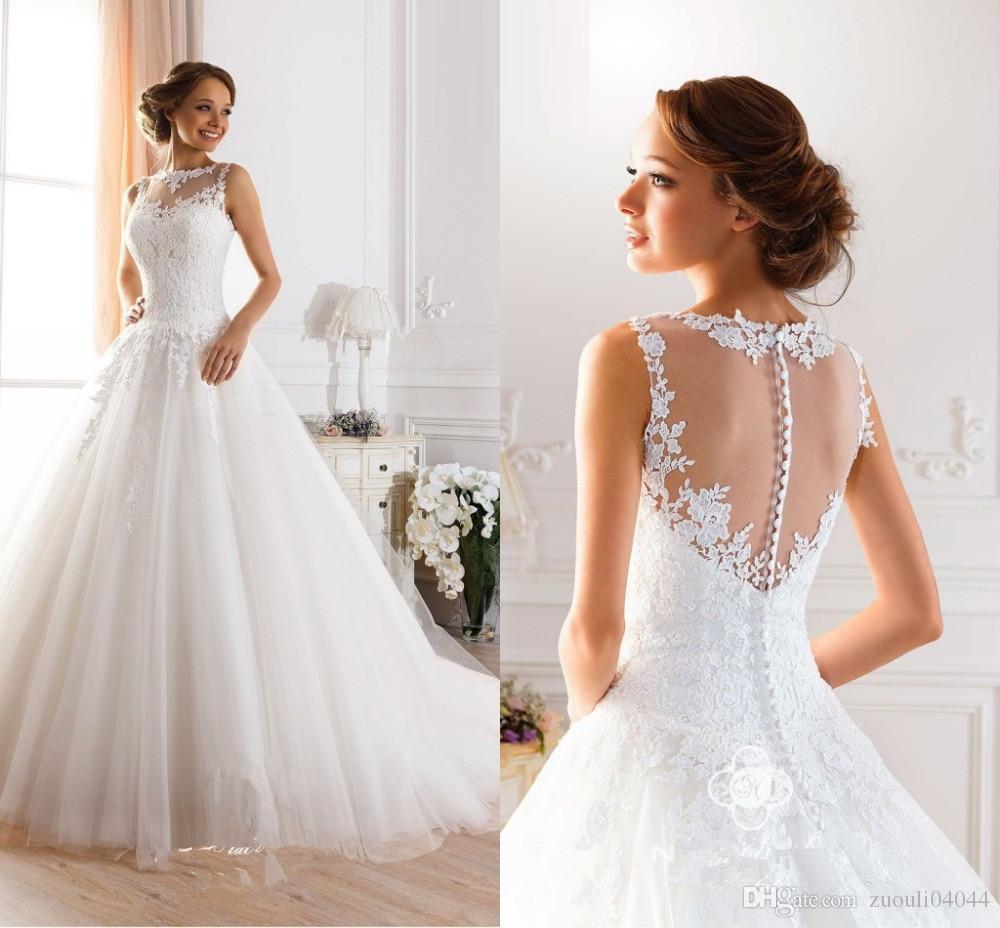 Naviblue Brand Designer 2015 Elegant Vintage Bridal Gowns White ...