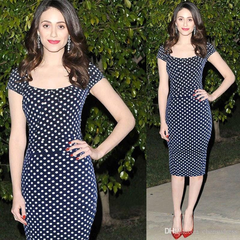Hot Women Summer Vintage Casual Dresses Short Sleeves Polka Dot ...